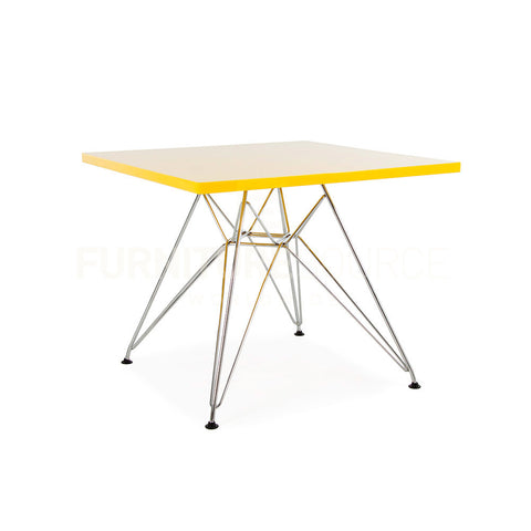 Kids Eiffel Leg Glossy Square Top DSR Modern Dining / Play Table Eames Style - Yellow Top , Kids Table - FSWorldwide, FSWorldwide  - 1