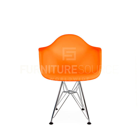 Kids - DAR Plastic Lounge Dining Chair Eames Style - Orange , Chair - FSWorldwide, FSWorldwide  - 1