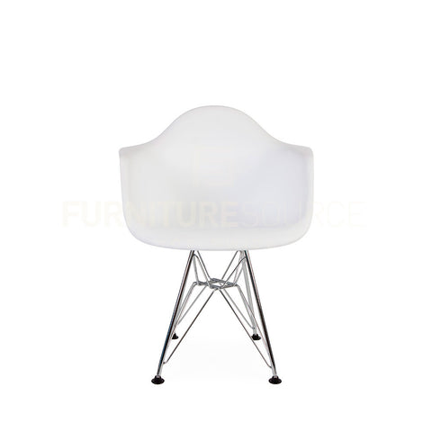 Kids - DAR Plastic Lounge Dining Chair Eames Style - White , Chair - FSWorldwide, FSWorldwide  - 1