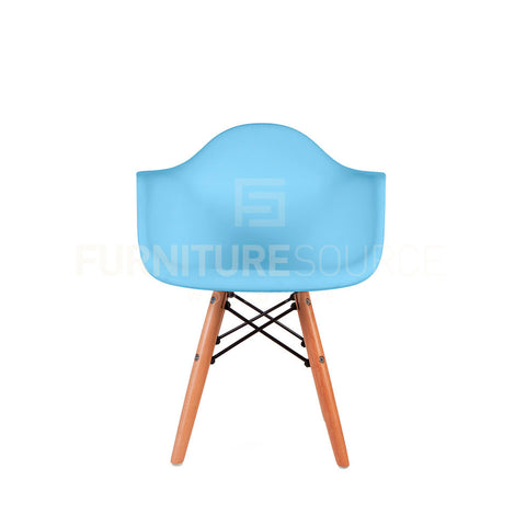 Kids - DAW Plastic Lounge Dining Wood Leg Chair Eames Style - Blue , Chair - FSWorldwide, FSWorldwide  - 1