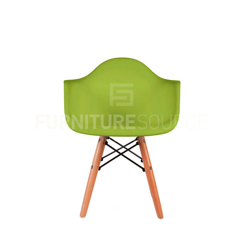Kids - DAW Plastic Lounge Dining Wood Leg Chair Eames Style - Green , Chair - FSWorldwide, FSWorldwide  - 1