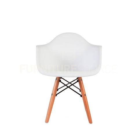 Kids - DAW Plastic Lounge Dining Wood Leg Chair Eames Style - White , Chair - FSWorldwide, FSWorldwide  - 1