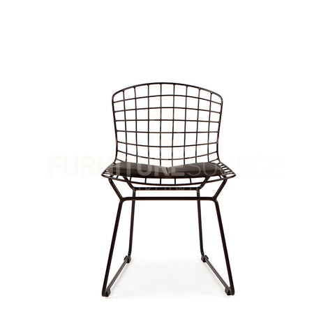 Kids - Harry Bertoia Style Wire Side Chair - Black Pad , Chair - FSWorldwide, FSWorldwide  - 1