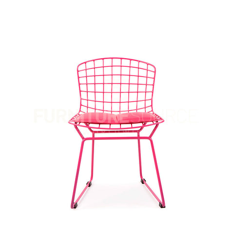 Kids - Harry Bertoia Style Wire Side Chair - Pink Pad , Chair - FSWorldwide, FSWorldwide  - 1