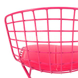 Kids - Harry Bertoia Style Wire Side Chair - Pink Pad , Chair - FSWorldwide, FSWorldwide  - 6