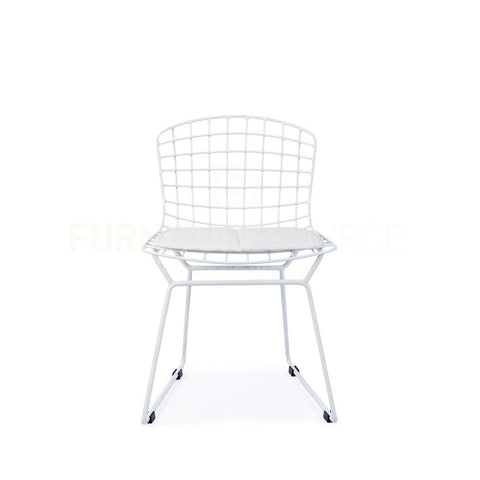 Kids   Harry Bertoia Style Wire Side Chair   White Pad , Chair    FSWorldwide,