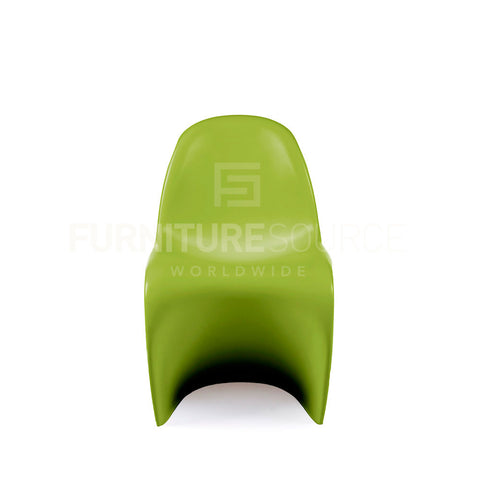 Kids - One Piece 'S' Shape Zigzag Chair In Style Of Verner Panton - Green , Chair - FSWorldwide, FSWorldwide  - 1