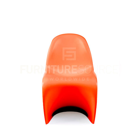 Kids - One Piece 'S' Shape Zigzag Chair In Style Of Verner Panton - Orange , Chair - FSWorldwide, FSWorldwide  - 1