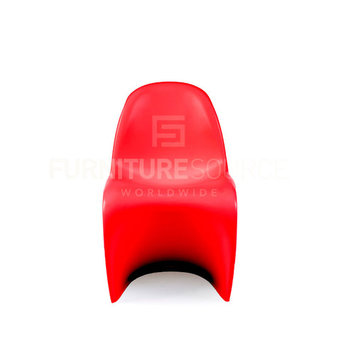 Kids - One Piece 'S' Shape Zigzag Chair In Style Of Verner Panton - Red , Chair - FSWorldwide, FSWorldwide  - 1