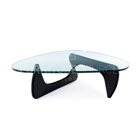 Isamu Noguchi Style Mid Century Modern Tribeca Coffee Table Solid Ash Wood Base - Black , Coffee Table - FSWorldwide, FSWorldwide  - 1