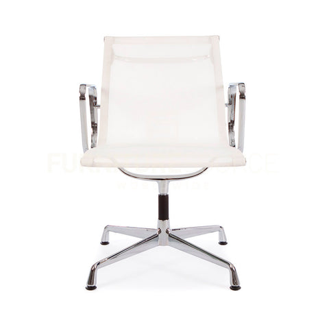 mesh ergo sling type low back office chair eames style - white