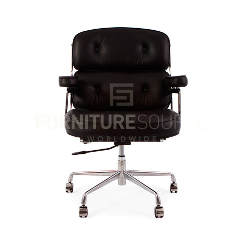 Management 'Time Life' Lobby Office Chair In Eames Style - Black Leather , Chair - FSWorldwide, FSWorldwide  - 1
