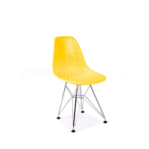 Kids DSR Eiffel Dining Lounge Midcentury Modern Shell Chair Eames Style - Yellow , Kids Chairs - FSWorldwide, FSWorldwide  - 1