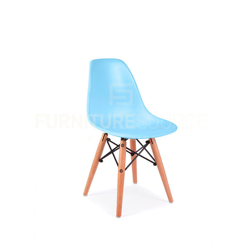 Kids Dining Set - Eames Style Round White Top Eiffel Base Table & 2 DSW Side Chairs Blue, Kids Dining Set - FSWorldwide, FSWorldwide  - 9
