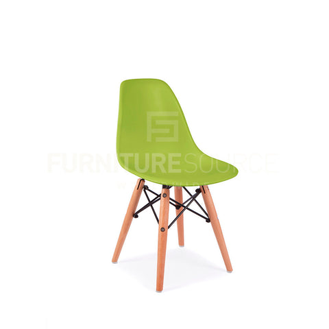 Kids DSW Lounge Dining Wood Leg Chair MidCentury Modern Chair Eames Style - Green , Kids Chairs - FSWorldwide, FSWorldwide  - 1