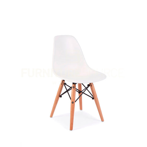 Kids DSW Lounge Dining Wood Leg Chair MidCentury Modern Chair Eames Style - White , Kids Chairs - FSWorldwide, FSWorldwide  - 1