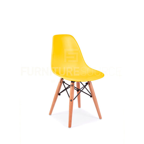 Kids DSW Lounge Dining Wood Leg Chair MidCentury Modern Chair Eames Style - Yellow , Kids Chairs - FSWorldwide, FSWorldwide  - 1