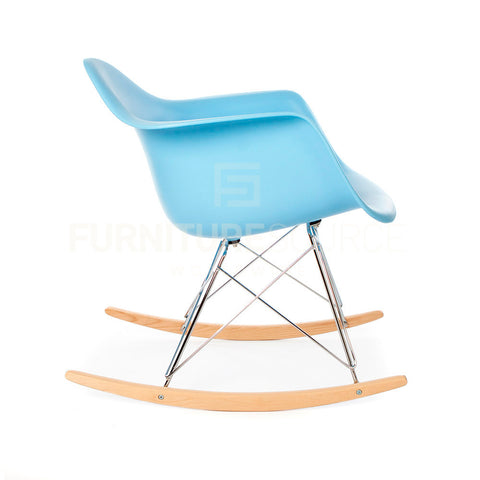 RAR Plastic Lounge Rocking Chair Eames Style - Blue , Chair - FSWorldwide, FSWorldwide  - 1