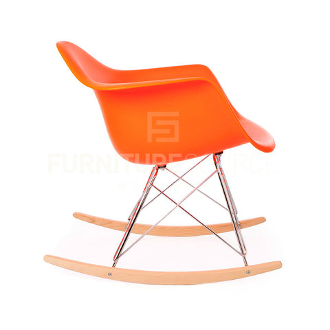 RAR Plastic Lounge Rocking Chair Eames Style - Orange , Chair - FSWorldwide, FSWorldwide  - 1