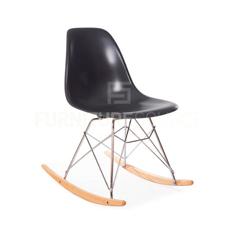 Mid-Century Modern Premium Quality Eiffel Rocking Side Chair Eames Style - Gray , Rocking Chair - FSWorldwide, FSWorldwide  - 1