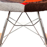Mid Century Modern Eiffel Rocking Retro Side Chair Eames Style - Special Patchwork , Rocking Chair - FSWorldwide, FSWorldwide  - 5