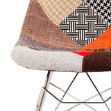 Mid Century Modern Eiffel Rocking Retro Side Chair Eames Style - Special Patchwork , Rocking Chair - FSWorldwide, FSWorldwide  - 8