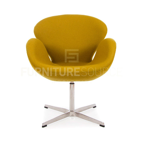 Arne Jacobsen Style Swan Chair - Cashmere Olive Green Fabric , Chair - FSWorldwide, FSWorldwide  - 1
