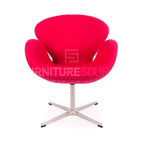 Arne Jacobsen Style Swan Chair - Cashmere Pink Fabric , Chair - FSWorldwide, FSWorldwide  - 1