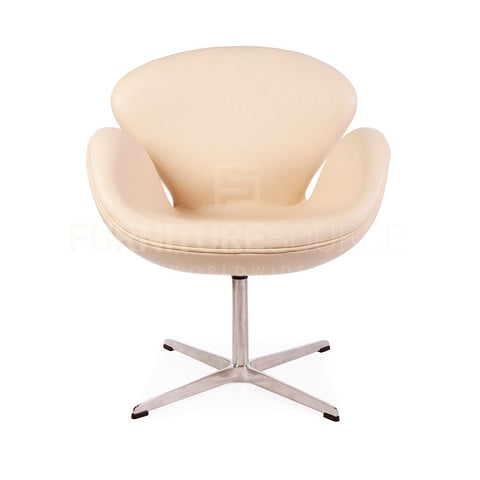 Arne Jacobsen Style Swan Chair - Beige Full Italian Leather , Chair - FSWorldwide, FSWorldwide  - 1