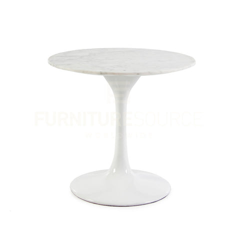 Iconic Saarinen Style Tulip Side Table With Solid Carerra Marble Top , Side Table - FSWorldwide, FSWorldwide  - 1
