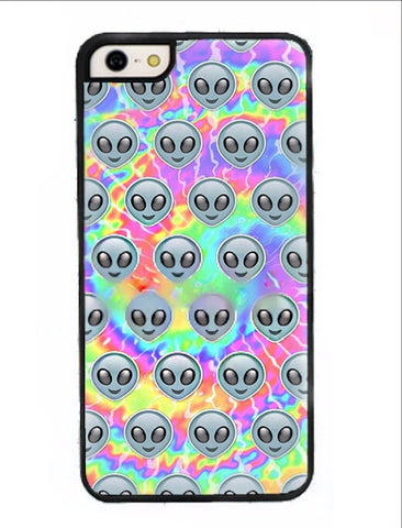 Tie Dye Alien Face Phone Case