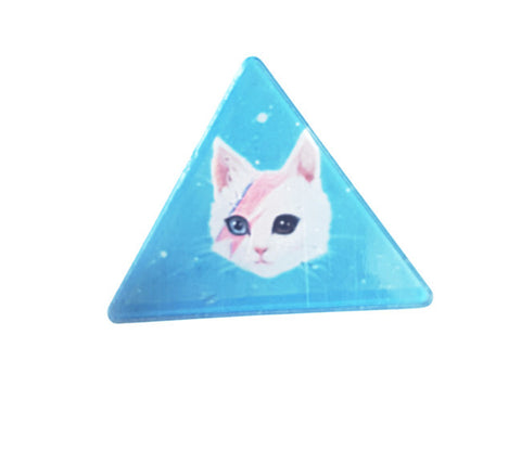 Triangle Meow Cat Brooch