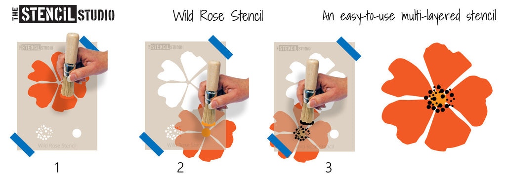 How to stencil with our Wild Rose stencil from The Stencil Studio