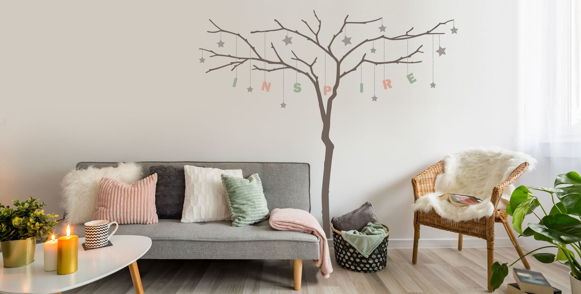 Be inspired by The Stencil Studio Branch Tree Stencil set including alphabet set for personalising