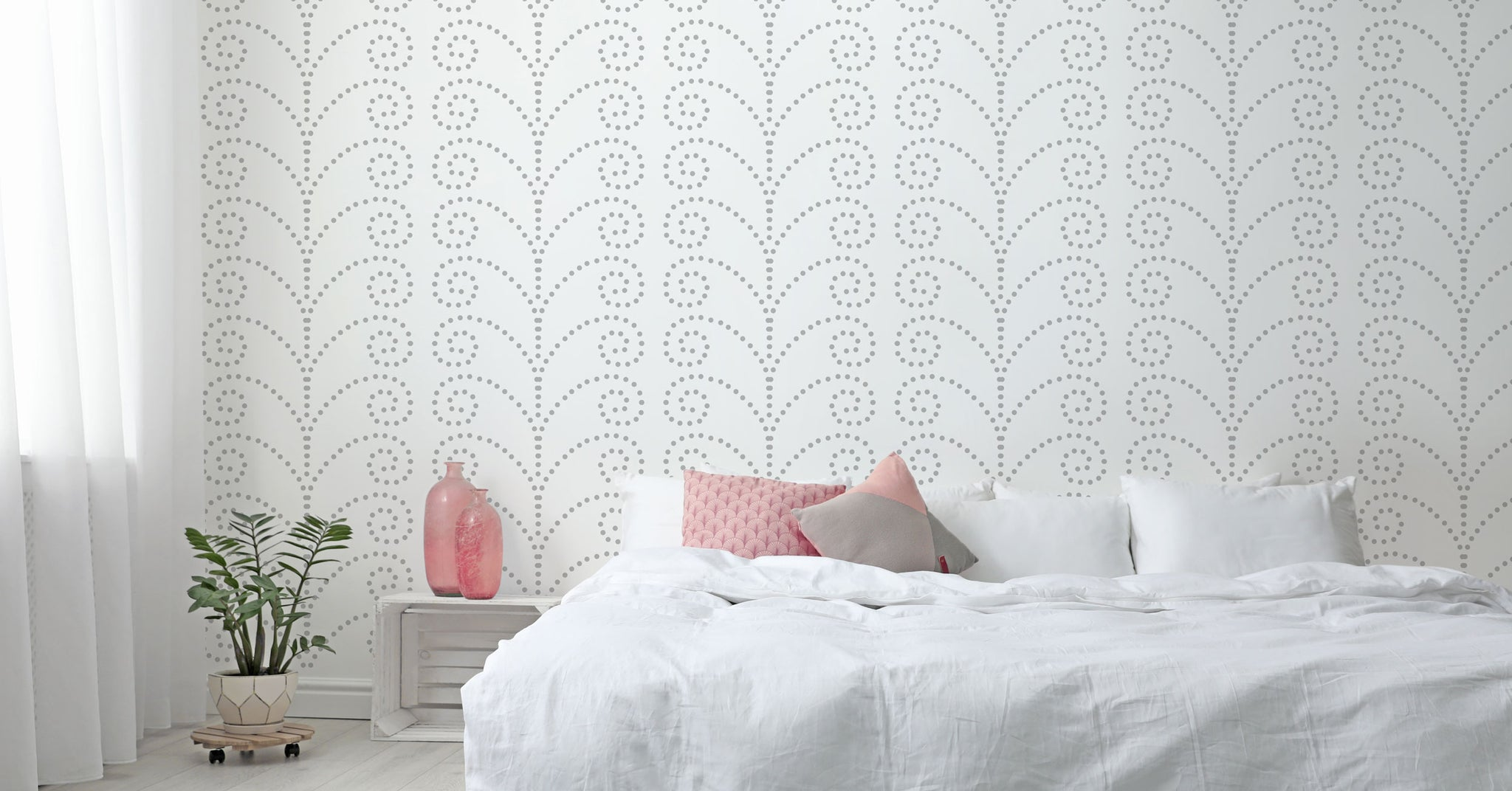 Dotty fern stencil, new stencil patterns for walls from The Stencil Studio Ltd