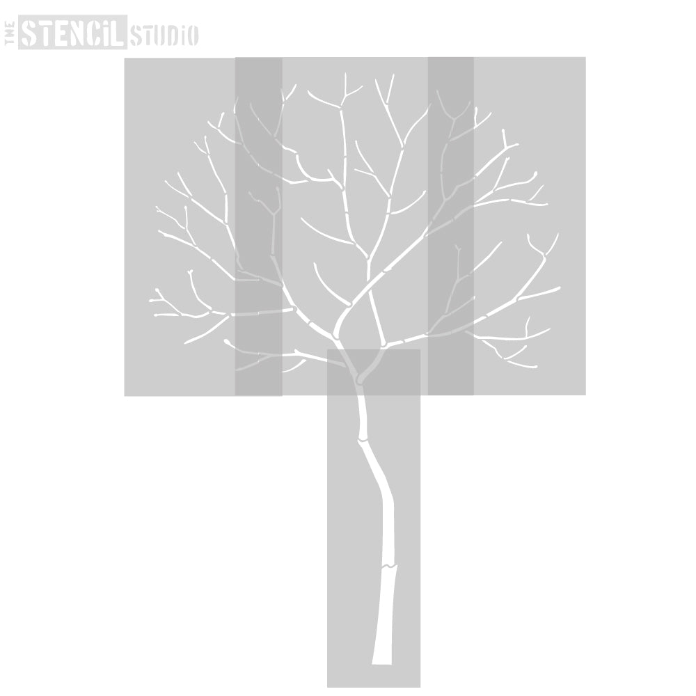 The four stencils used to create the Round Tree