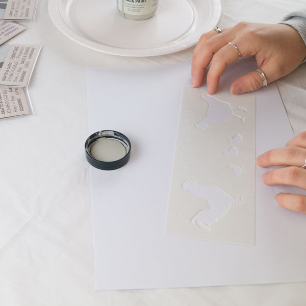 How to stencil tutorial from The Stencil Studio Ltd - Getting ready to stencil