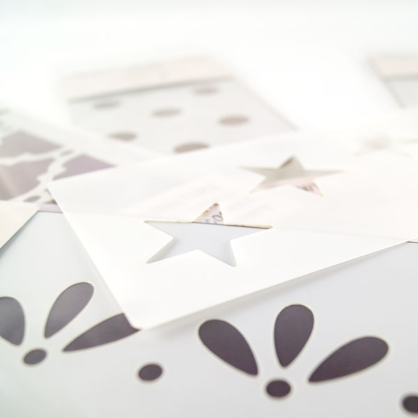 Star stencils and stencil minis from The Stencil Studio Ltd - How to stencil tutorial - Stenciling basics