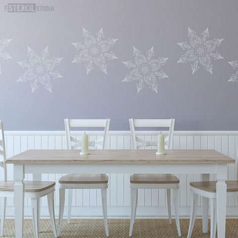 Large Wall Stencils From The Stencil Studio - Indian Star Stencil for decorating walls