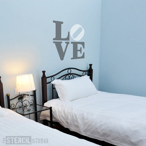 Banksy LOVE Graffiti Wall Stencil from The Stencil Studio - Stencil Size XL
