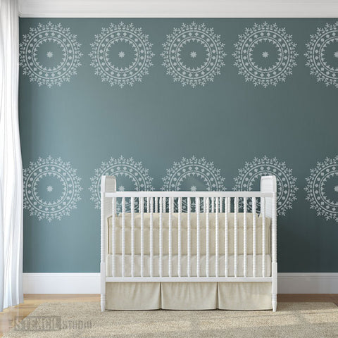 Nursery Stencils - Extra Large Wall Stencils for wall decorating from The Stencil Studio