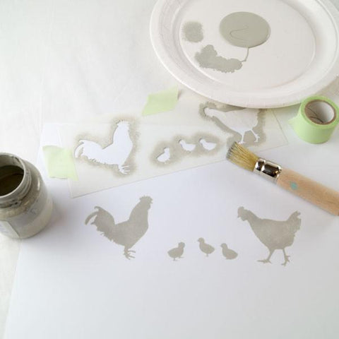 Stencilling for beginners, a quick how to from The Stencil Studio