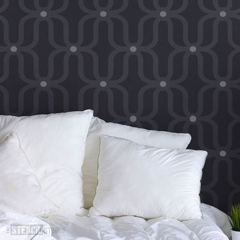 Moroccan Stencil designs from The Stencil Studio - Extra Large Wall Stencils for allover wallpaper effect