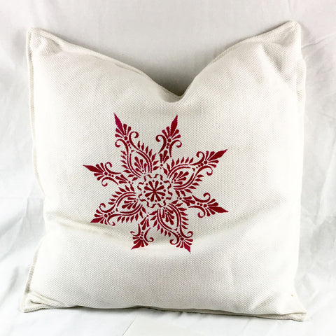 link to Let's stencil a cushion cover by The Stencil Studio