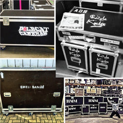 various flight case stencils we've done