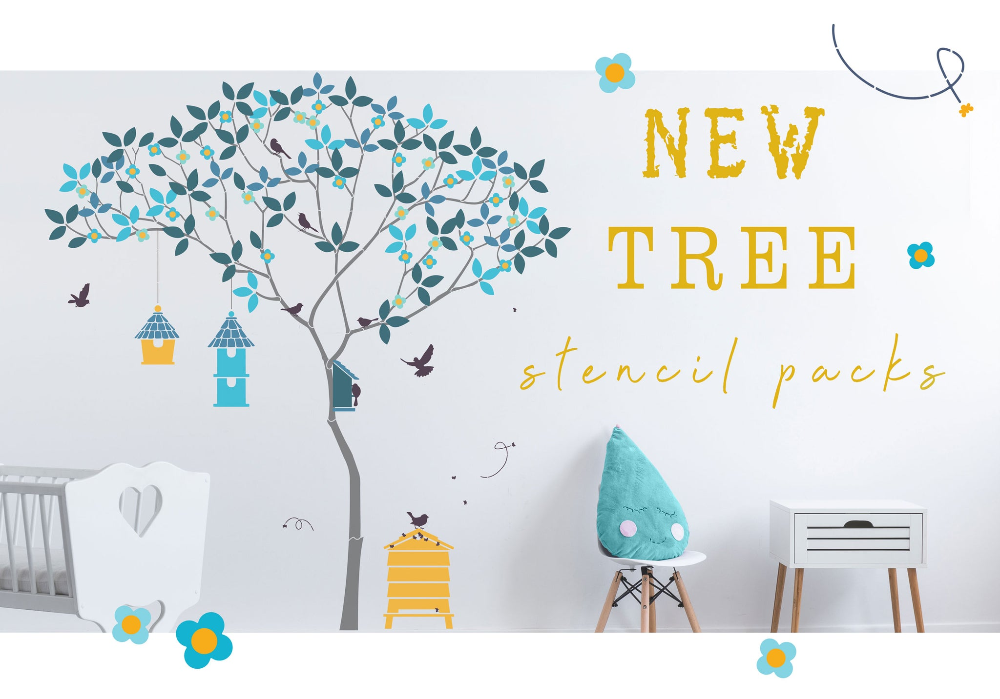 New Tree stencils for walls