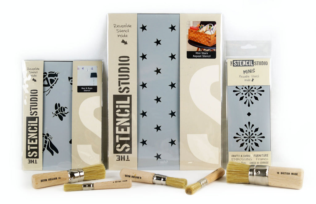 Packaged stencils from The Stencil Studio Ltd