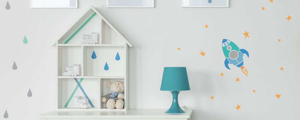 Stencils for kids rooms and playrooms