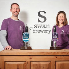 Swan Brewery stencilled wall