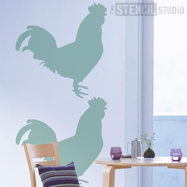 Cockerel stencil from The Stencil Studio Ltd - Size XL